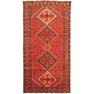ecarpetgallery Hand-Knotted Persian Vogue Beige, Red Wool Rug (4'10 x 9'10)