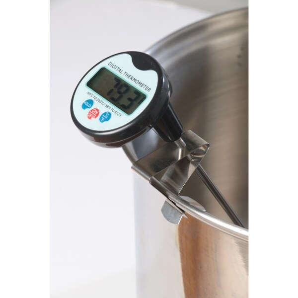 Digital Cooking/Candy Thermometer with Stainless Steel Pot Clip