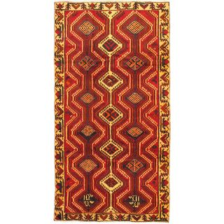 ecarpetgallery Hand-Knotted Persian Bakhtiar Beige, Red Wool Rug (4'11 x 9'5)