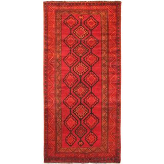 ecarpetgallery Hand-Knotted Persian Vogue Red Wool Rug (4'7 x 9'9)