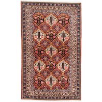 ecarpetgallery Hand-Knotted Persian Bakhtiar Red Wool Rug (5'1 x 8'3)