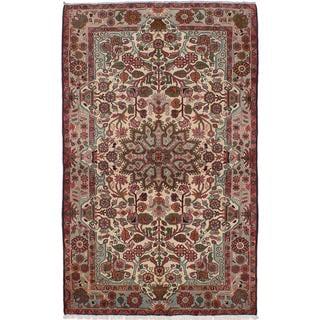 ecarpetgallery Hand-Knotted Persian Nahavand Beige Wool Rug (4'11 x 7'11)