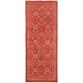 ecarpetgallery Hand-Knotted Persian Vogue Pink Wool Rug (3'10 x 10'0)