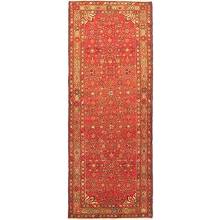 ecarpetgallery Hand-Knotted Persian Vogue Red, Yellow Wool Rug (3'9 x 9'9)