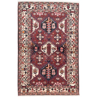 ecarpetgallery Hand-Knotted Persian Bakhtiar Red Wool Rug (4'7 x 7'0)