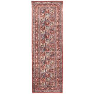 ecarpetgallery Hand-Knotted Persian Mood Birjand Brown Wool Rug (3'3 x 9'7)