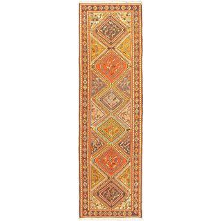 ecarpetgallery Hand-Knotted Persian Azari Blue, Brown Wool Sumak (2'10 x 9'10)