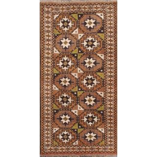 ecarpetgallery Hand-Knotted Persian Guchan Beige, Brown Wool Rug (3'5 x 6'6)