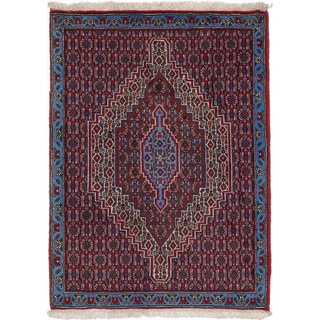 ecarpetgallery Hand-Knotted Persian Senneh Blue Wool Rug (2'5 x 3'3)