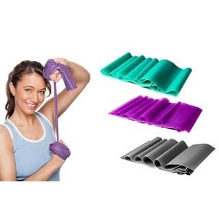 Yoga & Pilates Stretch Exercise Bands (Set of 3)