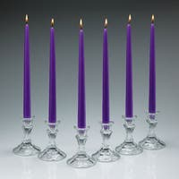 Lavender Taper Candles 12-inch Tall Burn 10 Hours (Set of 12)
