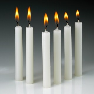 White Taper Candles Burn 1.5 Hours (Set Of 60)