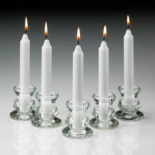 White Taper Candles Burn 5 Hours (Set Of 80)