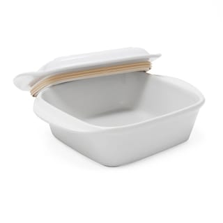 Chantal Make and Take Ceramic Square Casserole with Lid