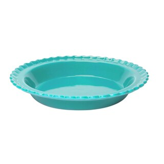 Chantal Classic Ceramic 9 Inch Pie Dish in Aqua