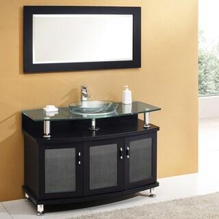 """Fresca Contento 44"""" Espresso Modern Bathroom Vanity w/ Mirror"""