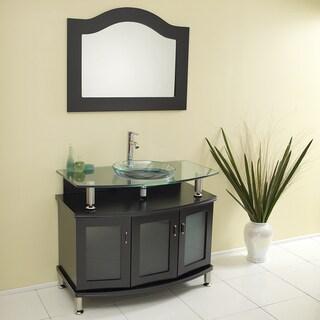 """Fresca Contento 40"""" Espresso Modern Bathroom Vanity w/ Mirror"""