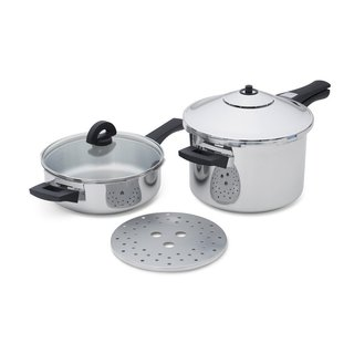 Kuhn Rikon 30324 Duramatic Pressure Cooker Set in Stainless Steel