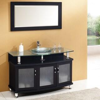 """Fresca Contento 48"""" Espresso Modern Bathroom Vanity w/ Mirror"""