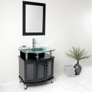 """Fresca Contento 30"""" Espresso Modern Bathroom Vanity w/ Mirror"""