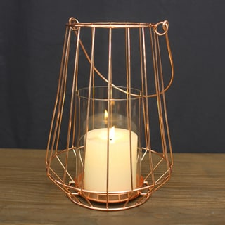 Adeco Metal Cage Style Candle Holder Stand