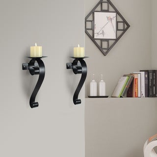 Adeco Metal Wall Sconces, Set of Two