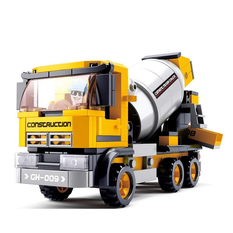 Sluban Interlocking Bricks Cement Mixer Truck (Yellow)