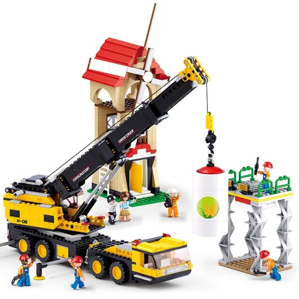 Sluban Interlocking Bricks Crane Truck