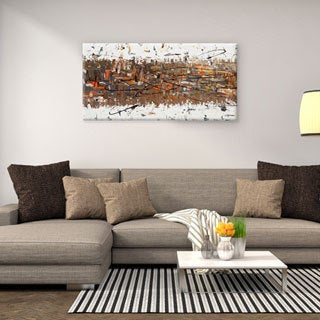 Carmen Guedez 'Stars Passing' 24 x 48 Canvas Wall Art