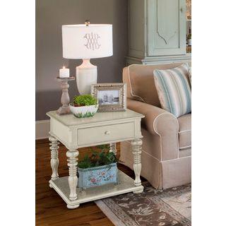 Paula Deen Home Rectangular End Table in Linen Finish
