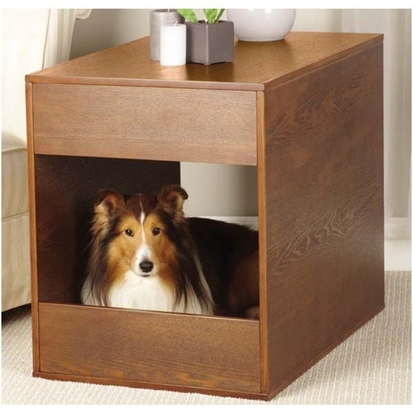 Pet Studio Pet Crate And End Table