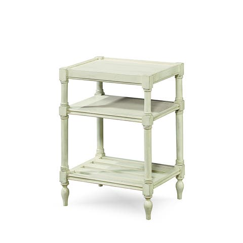 Summer Hill Chair Side Table in Cotton Finish