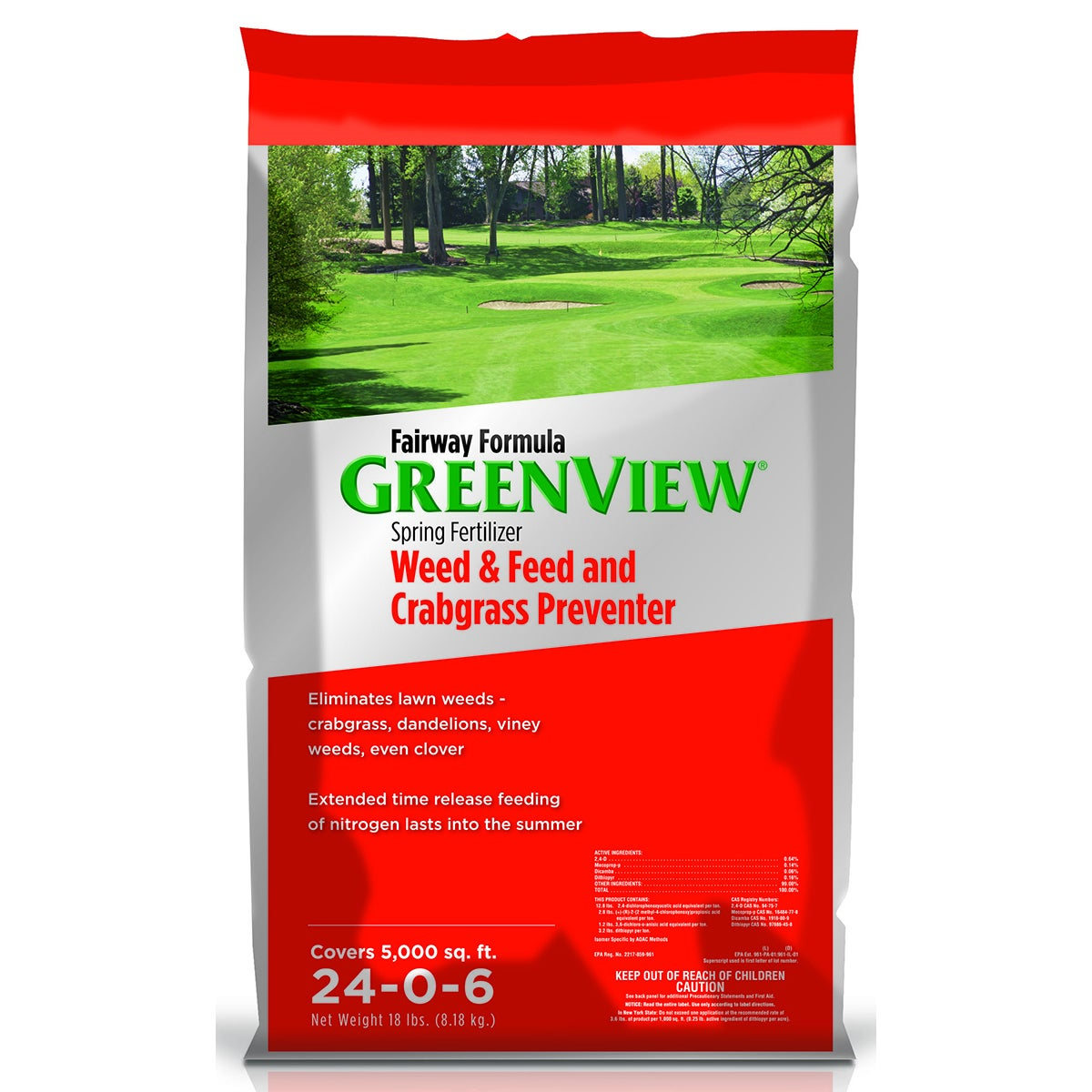 Fairway Formula Spring Fertilizer Weed and Feed with Crab...