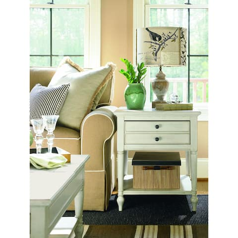 Summer Hill End Table in Cotton Finish