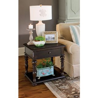 Paula Deen Home Rectangular End Table in Tobacco Finish