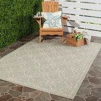 Safavieh Indoor/ Outdoor Courtyard Green/ Grey Rug (8' x 11')