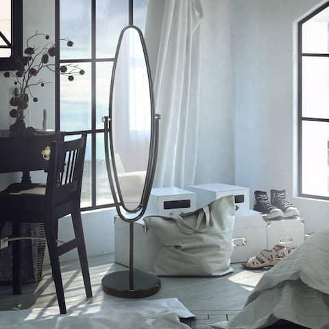 Furniture of America Perri Contemporary Oval Standing Hallway Mirror