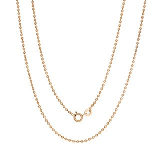 Sterling Essentials 14k Rose Gold Over Silver 2 mm Ball Chain ( 16-30 mm)