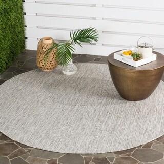 Safavieh Indoor/ Outdoor Courtyard Grey/ Grey Rug (6' 7 Round)