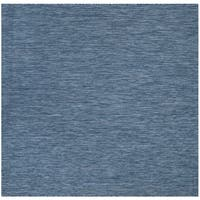 Safavieh Indoor/ Outdoor Courtyard Navy/ Navy Rug - 6' 7 Square