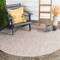 Safavieh Indoor/ Outdoor Courtyard Beige/ Beige Rug - 6' 7 Round