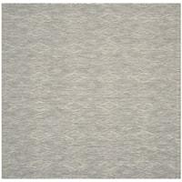 Safavieh Indoor/ Outdoor Courtyard Grey/ Grey Rug - 6' 7 Square