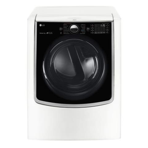 LG DLGX9001W 9-cubic Foot MEGA Capacity TurboSteam Gas Dryer with On-Door Control Panel in White