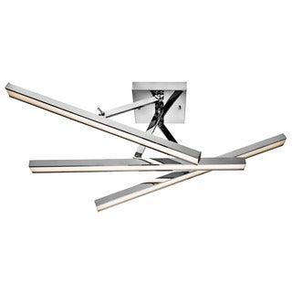 Kichler Lighting Contemporary 3-light Chrome LED Semi-Flush Mount