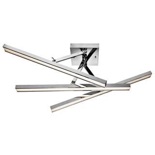 Kichler Lighting Contemporary 3-light Chrome LED Semi-Flush Mount