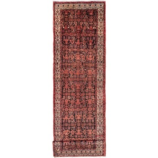 ecarpetgallery Hand-Knotted Persian Malayer Black, Brown Wool Rug (3'7 x 13'1)