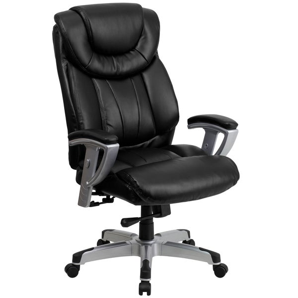bolvan big and tall black leather executive swivel office chair with