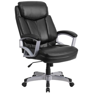 Arton Big and Tall Black Leather Executive Swivel Adjustable Office Chair with Headrest