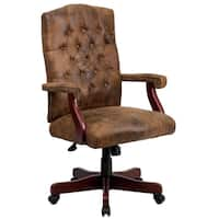 Shop Bomber Brown Classic Executive Office Chair Free