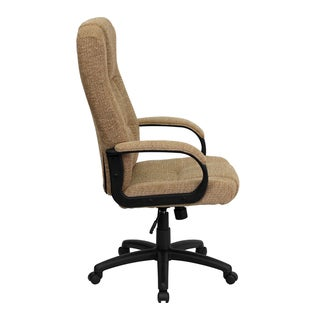 Clifton Beige Woven Fabric Executive Adjustable Swivel Office Chair